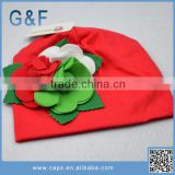 Popular Winter Cute Baby Beanie Hats With Flowers