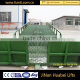 Full hydraulic drive best price steel mobile loading yard ramp for loading and unloading container