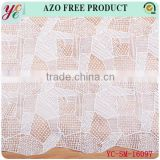 Hot sale white beautiful irregular small square woven design chemical lace fabric embroidrry for dress