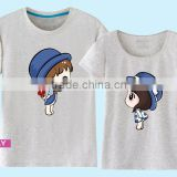 top fashion wholesale custom good quality cotton softtextile family couple t-shirt design china supplier