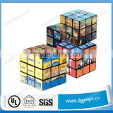 custom design strong adhesive magic cube label sticker for promotion
