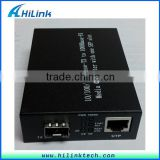 Hilink 10/100/1000M Base WDM SFP Port Fiber Optic to RJ45/UTP Ethernet Compatible Cisco SFP Module Media Converter