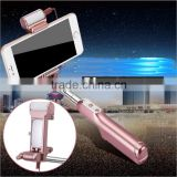 Professional led flash light mobile phone extension selfie stick with light