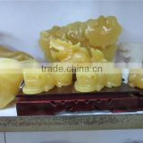 chinese crystal bling crafts ,yellow jade crystal craft, Sycee shape crystal craft