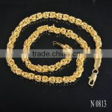 "18K Gold plated 18"" Artificial necklace jewelry"