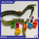2015 high quality festival fabric wristband with plastic lock/Woven thread wristband/Woven thread bracelet
