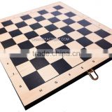 QUALITY Modern Silkscreened 3 in 1 WOOD Folding CHESS, BACKGAMMON, CHECKERS Set