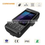 Android 5.1 LTE Portable mini data collector fingerprint scanner and printer with NFC RFID reader