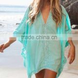 Women's fashion dress, lace work beach kaftan, beach wrap, swim wear, beach wear