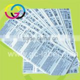 High temperature paper material barcode self-adhesive stickers and labels