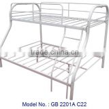 Classic White Bunk Bed With Upper Single And Lower Double Bed, metal bunk bed, metal bed in malaysia, double decker bed in metal