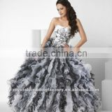 New hot sale strapless tiered ball gown skirt custom-made ball dresses CWFab4622