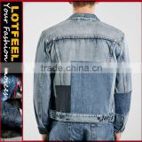 new deisgn vintage washed man denim jacket stone washed denim jacket quilted denim jackets (LOTJ104)