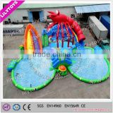 Water park with slide n pool/pool slide park with anime lobster decorate/giant park with large pool