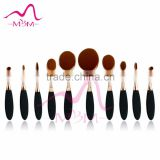 20% Discount!Professional make up brush set tools best Cosmetic toothbrush 10 pieces rose gold oval makeup brush set