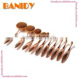 Best Selling Maquallaje Kiss Beauty Full Rose Golden Oval Toothbrush Cosmetic Brush Kits