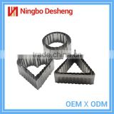 High quality cake moulds customed mini competitive price stainless steel mold cookie cutter