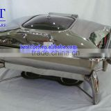 chafing dish with glass window lid