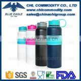 40 Ounce Insulated Stainless Steel Vacuum Water Bottle with Copper Technology and Rubber Grip