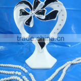2014 heart with bow of ribbon wedding gifts wedding favor wedding cake decoration
