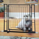 Adjustable metal hands free pet gate with foot pedal baby gate