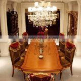 Royal Exquisite European Louis Designed Banquet Long Dining Table with Beautiful Dining Chair BF12-04204a