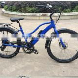 26 inch brushless hub electric bicycle lithium battery powered electric beach cruiser bike for lady