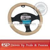 #19546 38cm diameter Genuine Leather Cool Steering wheel cover