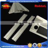 straight edge aluminum ruler cork backed no skid metric non marring rotting anodised finish etched scale