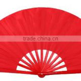 Thick mercery smooth elegent environmental protection with rivet fixed sturdy and durable Red Chinese Kungfu fan