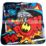 Promotional gifts 100% cotton custom Batman Warner Bros cartoon terry cotton towels
