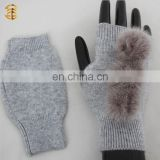 Wholesale Winter Fashion Girls High Quality Knitted Gloves and Mittens