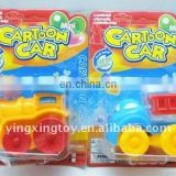 pull back cartoon car with sugared toys