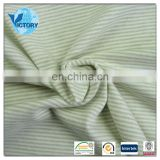 Textile 100% Cotton Yarn Dyed Stripe Interlock Knit Fabric for Baby Clothes,Garment, T-shirts