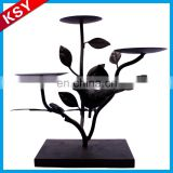 Best Selling Fine Workmanship Metal Tree Hold Custom Hanging Lantern Candle Holders Base For Wine Bottle