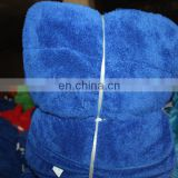 polyester/nylon 80/20 knitted towel fabric blue color