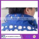 Blue color Tatting chemical protective safety suit zinc holes manufacturer price (V058)