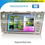 "Erisin ES7668M 8"" Car Stereo DVD GPS Navigation System for Toyota Camry 2009"