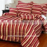 7pcs 100% polyester Jacquard Dubai Red Stripe Luxury Bedding Comforter Sets with Low Price