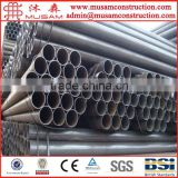 Q235 Black painted erw welded carbon steel pipe price list per ton