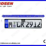 License Plate frame Rearview Camera for Europe Cars, water proof design