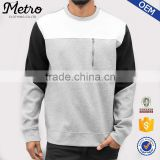 2016 OEM Custom Mens Zip Color Block Sweatshirts
