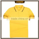 Men's cotton/polyester custom dry fit polo shirts customize uniforms