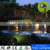 Red&Green Sparkling Star Stage Laser Light IP65 Waterproof Outdoor Christmas Lights Landscape Spotlights with Remote Controller