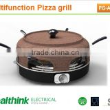 new type electric bbq pizza grill, raclette function with 6 small pans