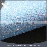 glitter leather for shoes, PU leather glitter fabric, bright shoe material with high quality