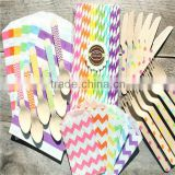 Manufacturer of Party Supplies More Patterns Paper Straws, Paper Bags, Wooden Forks Spoons Knives