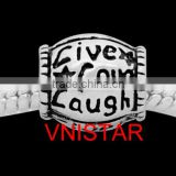 Vnistar antique silver plated live love lough design oval shaped european beads wholesale PBD3049