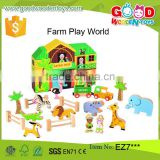 23 pieces baby's animal set wooden farm paly world chinese imports wholesale                                                                         Quality Choice
