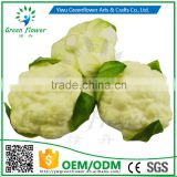 Greenflower 2016 Wholesale artificial PU Cauliflower China handmaking decoration